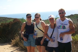 Hiking Torrey Pines with first CA visitors