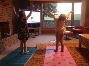 Passing on the gift of yoga to my nieces.  Being a positive role model for them fills my cup!