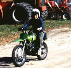 Matt on one of his first motorcycles!