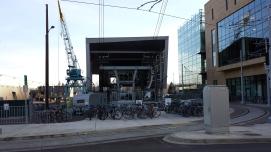 Tram and bikes