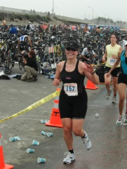 First sprint triathlon