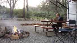 Travel journaling by fire