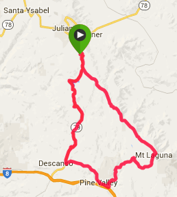 50 miles, 4,500 elevation gain