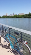 View of downtown Austin from boardwalk trail section