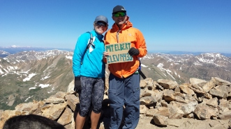 Our first 14er!