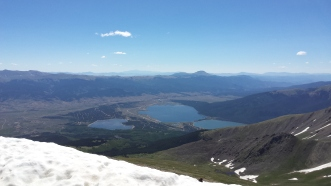 View from Mt Elbert summit