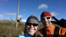 Spotted a Christmas style cactus tree on our xmas day trail run