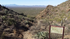 View from Gates Pass trailhead